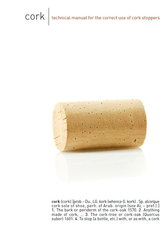 Cork: technical manual for the correct use of cork stoppers
