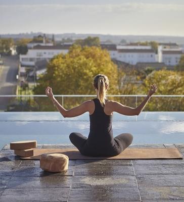 Peças de yoga em cortiça