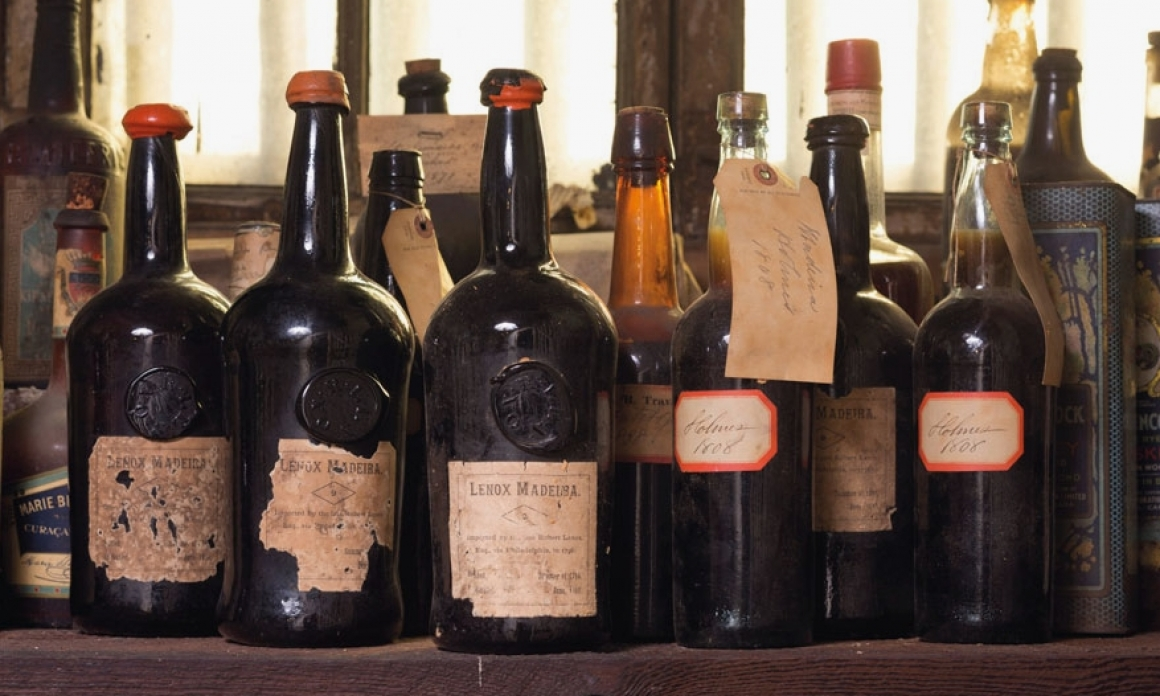 Historic 19th Century Madeira Wines sealed under natural cork found at Liberty Hall Museum
