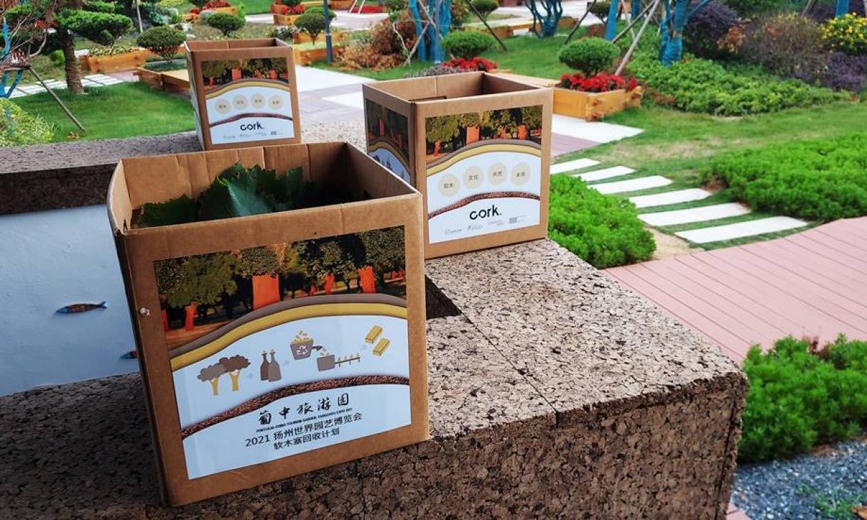 APCOR recolha rolhas de cortiça no Jardim do Turismo, na China