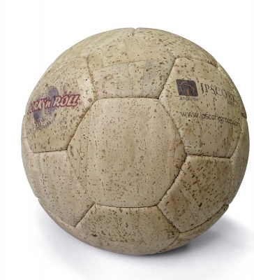 Cork ball on the pitch